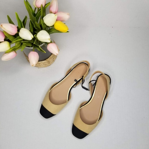791f51c0f8 Zara Shoes | Nwt Us 6 Colorblock Slingback Flats | Poshmark